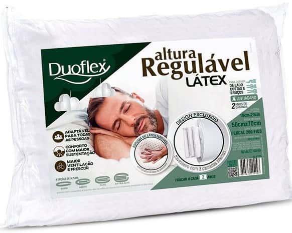 travesseiro látex altura regulável