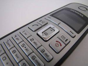Telefone sem fio de perto