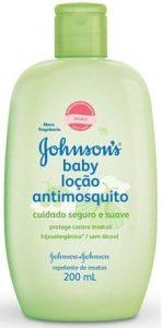 Loção antimosquito Johnson's Baby