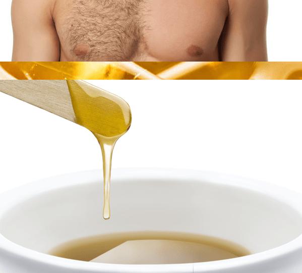 depilação com cera para homens