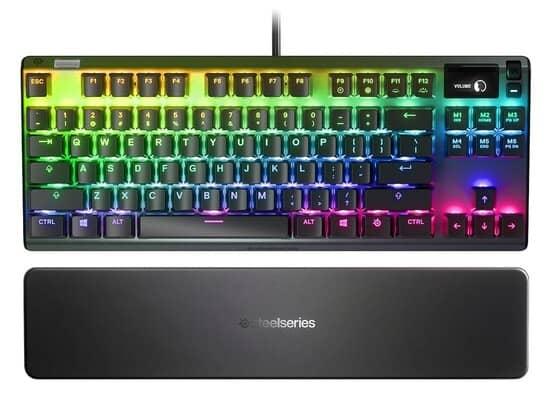 teclado gamer com fio steelseries apex pro tenkeyless