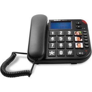 telefone com fio teclas grandes Tok Fácil ID Intelbras
