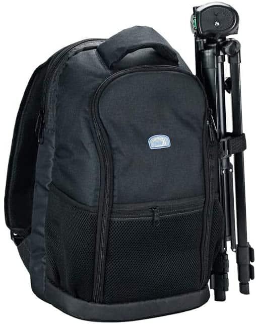 mochila fotografica pequena suporte para tripé