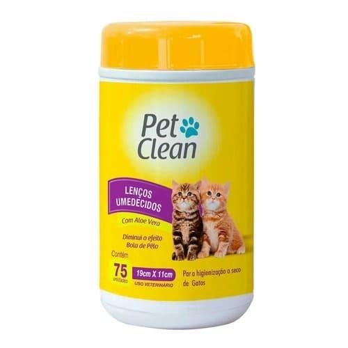 banho a seco para gatos toalhas umidecidas
