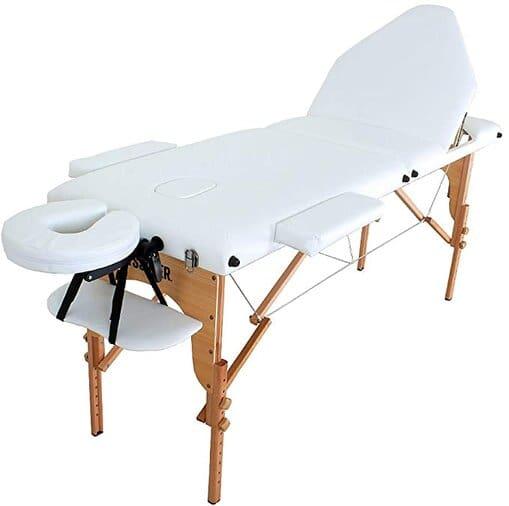 mesa de massagem portátil com apoio