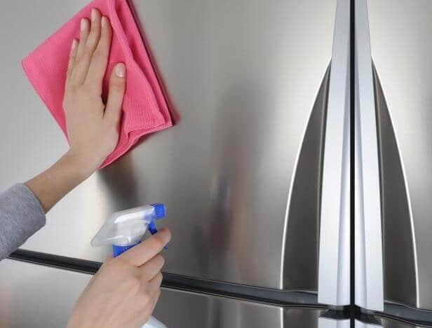 limpador de aço inoxidável